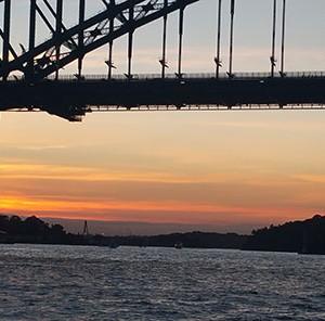 Sunset over Sydney Harbour Bridge